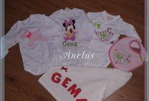 Bodys personalizados de bebes. / http://anetascamisetas.blogspot.com.es/