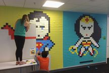 Post-it Brand Art / Have you ever had a Post-it War or created a pixelated character on a wall? This is for you.