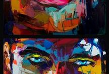 Painting - faces