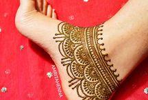 anklet henna