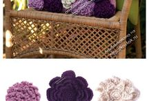 flower pillow with diagram crochet
