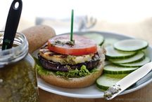Healthy sandwiches / Healthy meatless sandwiches and veggie burgers. Vegan sandwiches.