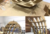 estruturas de papelão