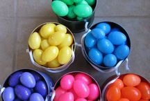 Having Fun With Kids On Easter / Color coded Easter egg hunts, creative ideas, and enjoying this special day.