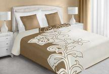 Jednofarebné prehozy na posteľ