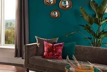 Teal and Gold decor