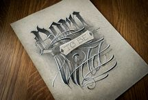 Lettering Tattoo Master / Artwork by Alexandr Razenkov.