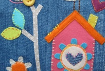 Appliqué Art / Beautiful, inspiring pictures using yummy fabrics and pretty freehand machine embroidery.