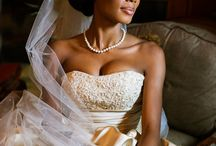 African American bridal beauty
