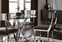 Stylish Dining Rooms / High-style dining room furniture and decor