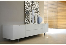 Contemporary Large White High Gloss Muti Storage Richow TV Stand