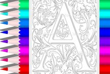 Color a Tropical Alphabet / Coloring Pages Designed by Pauline Walsh Jacobson