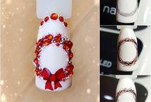 Рождественский дизайн ногтей