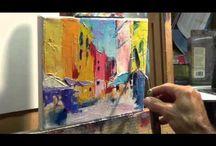 schilders aan het werk