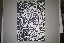 Draws - dibuixos / M'agrada dibuixar amb tinta xinesa