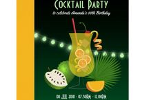 Cocktail Parties / Cocktail Party invitations customizable to your event specifics.