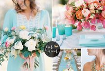 Spring Palettes / Spring Weddings, colours and styles