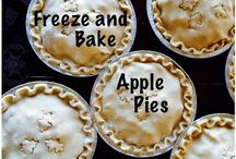 Freeze and Bake Apple Pies / Make ahead and freeze refined sugar free Apple pies.