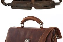 Vintage leather backpack travel