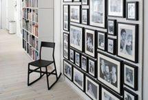 Zwart wit foto wand