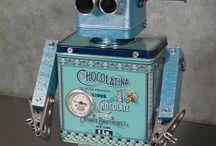 Roboter Skulpuren