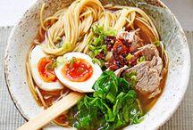 ramen and soba