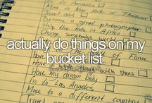 Things I want to do before I die✌️ / My bucket list