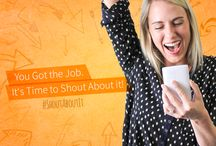 """Got the job? Shout About It! / Whether it's a new job or a promising interview, you've got something to shout about! www.livecareer.com/hotshots LiveCareer invites you to become a """"Hot Shot"""" by sharing your success with friends and family in a 30 second video. You could earn a $100 Amazon Gift Card! Share using #ShoutAboutIt  / by LiveCareer"""