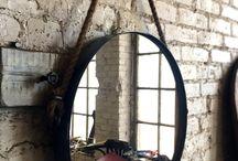 Metal Wheel mirror / Lustro Metal Wheel . Metalowa rama z ręcznie kutymi uchwytami ,wykończona liną konopną. Zapraszamy . www.hdfurniture.pl
