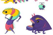 illustration monster