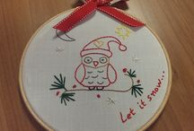 Christmas Embroidery Hoops / Christmas gifts for your loved ones