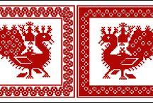 cross-stitch monochrome / cross-stitch embroidery pattern
