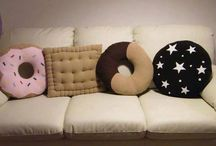 Cool Cushions / Cushion inspirations. From homemade and handmade cushions to shop bought funky, cool cushions.
