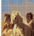 wzory koni haft