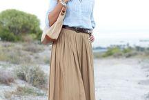 Mode / Jeans skirt long boots