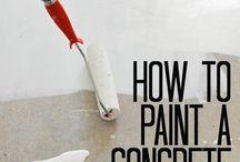 Concrete floor painting