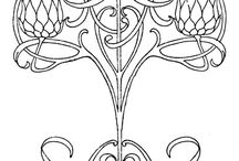 art Nouveau pattens