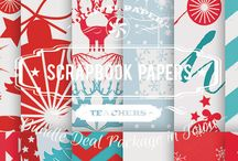 SCRAPBOOK PAPERS / DIGITAL PAPERS - SCRAPBOOK PAPERS  BY DIGITAL PAPER SHOP