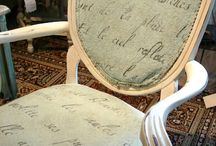 Yes!  Painted Upholstry / Chalk Paint® decorative paint by Annie Sloan is so versatile you can even paint upholstery!
