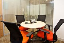 Mitsubishi Corporate Refurbishment / RAP Interiors were engaged to create new 4 person Meeting room to the side of existing Boardroom, with double glazed Polar glass system, integral office partitions, 1 cellular office for the Director of Mitsubishi.