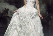 Unique designer bridal wedding dresses