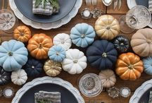 Rustic Navy & Pumpkin Thanksgiving