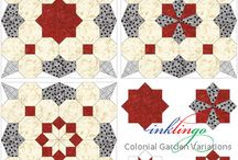 Quilts with Octagons / When everyone else is sewing hexagons, do you sew octagons? http://lindafranz.com/shop/octagon-quilt/18 There are some fascinating possibilities in Castle Wall, Feathered Star, Waltzing Matilda, Periwinkle, and Colonial Garden from Inklingo.