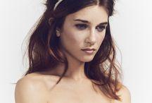 Bridal headpiece, headdress cool bride, gold headdress, crown , boho bride, wedding hair, hair up, bridal makeup, wedding makeup. / Luna Bea Bride S/S16