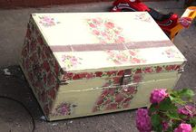 Dower chest with roses
