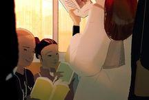 Train reading / Чтение в транспорте