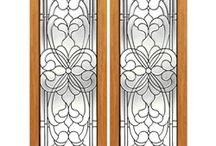 Interior Decorative Glass Doors / These doors have hand cut beveled glass.  There are many designs and sizes to choose from.  Many of the doors are also offered as triple glazed exterior doors.