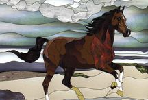 Stained Glass Horses