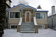 Strathcona home with open living room / kitchen