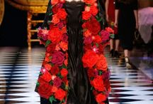 Dolce & Gabbana Fall-Winter 2016-17 #DGFabulousFantasy Women's Fashion Show / Off the Catwalk fabulous clothes: Transparencies, Lace, Floral Patterns, Shining and Sparkling Clothes, Baroque Style, Maxi Coat Cape and Glamour Accessories!